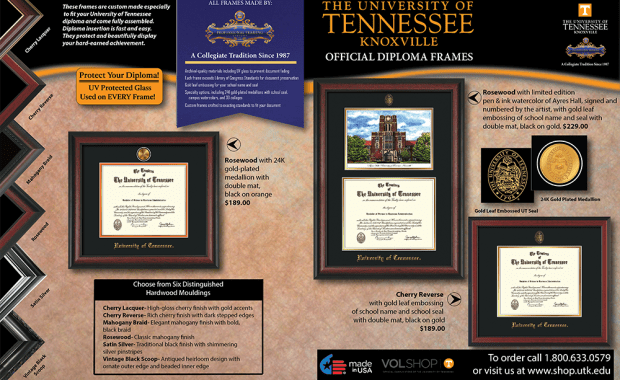University of Tennessee Brochure Side One
