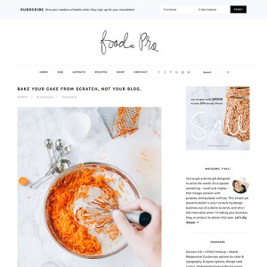 StudioPress Premium WordPress Theme Foodie Pro