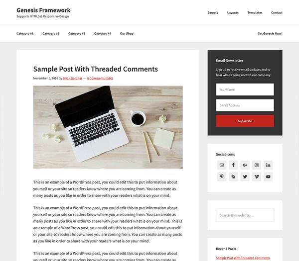 StudioPress Premium WordPress Theme Genesis Framework