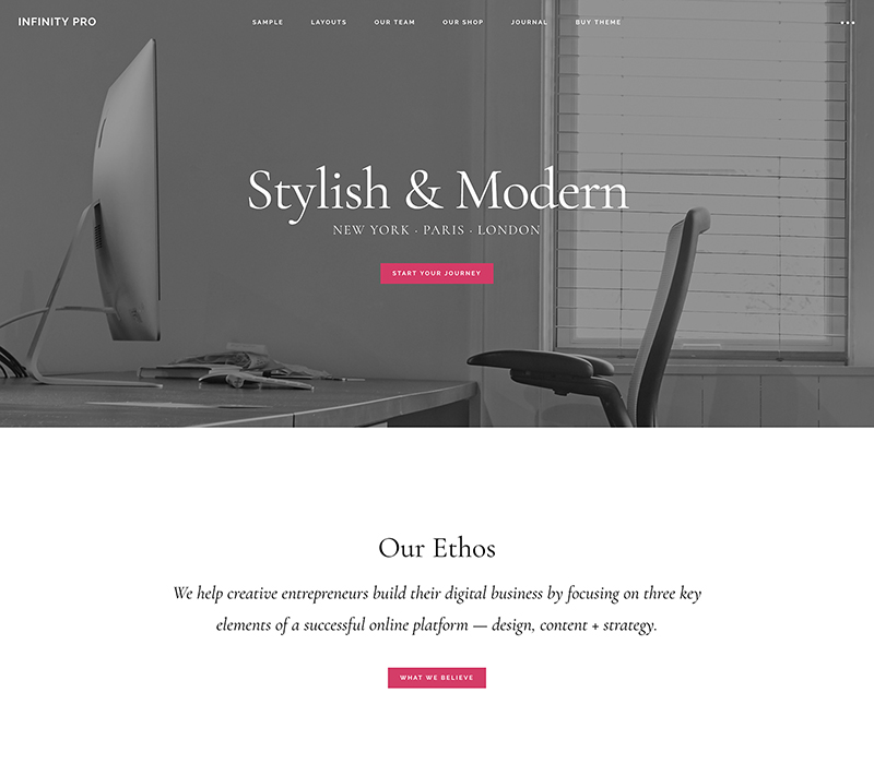 StudioPress Premium WordPress Theme Infinity Pro