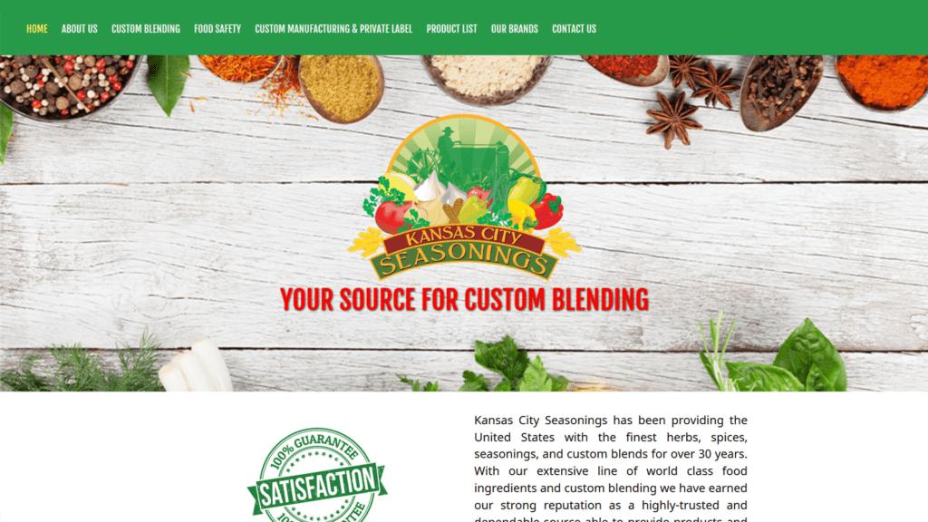 Kansas City Seasonings website