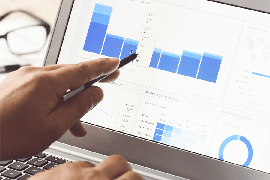 Checking web analytics for a website