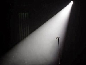 spotlight on stage