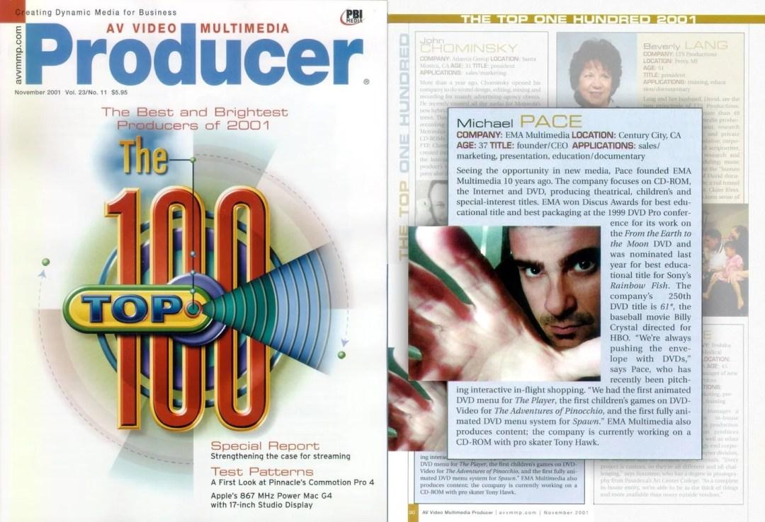 michael Pace AV magazine top 100 producers