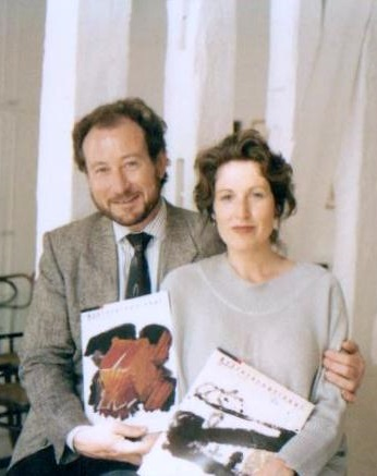 Michael with Art International editor Jill Lloyd