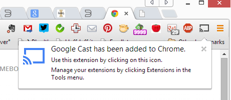 Google Chromecast Extension