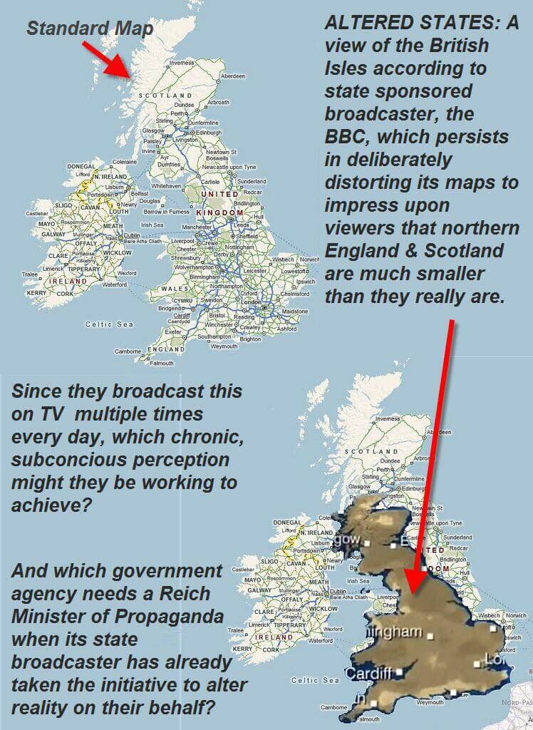 BBC map of the UK mainland | Michael Rawlins