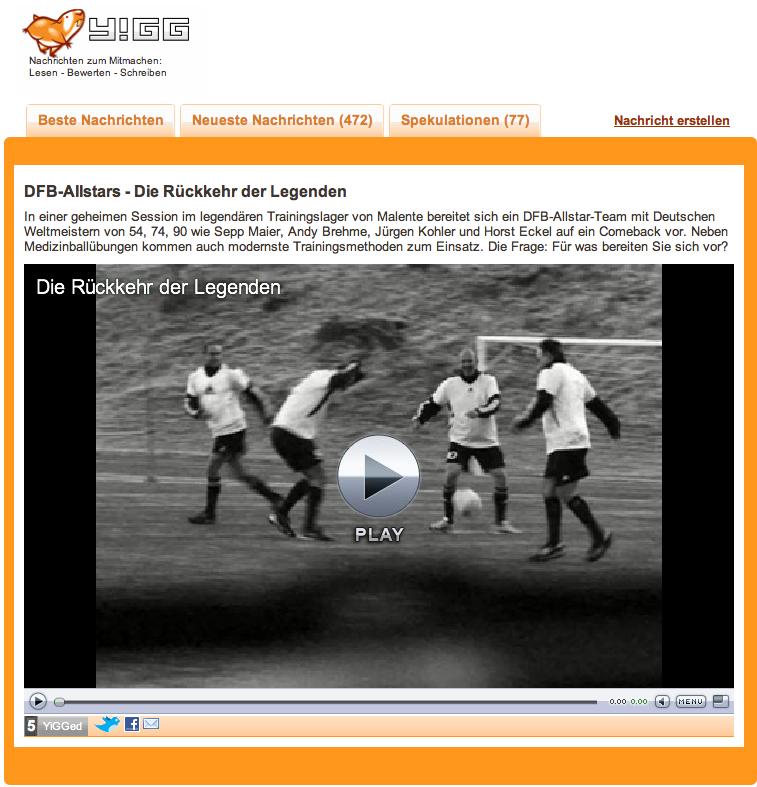 DFB Allstars - Die Rückkehr der Legenden