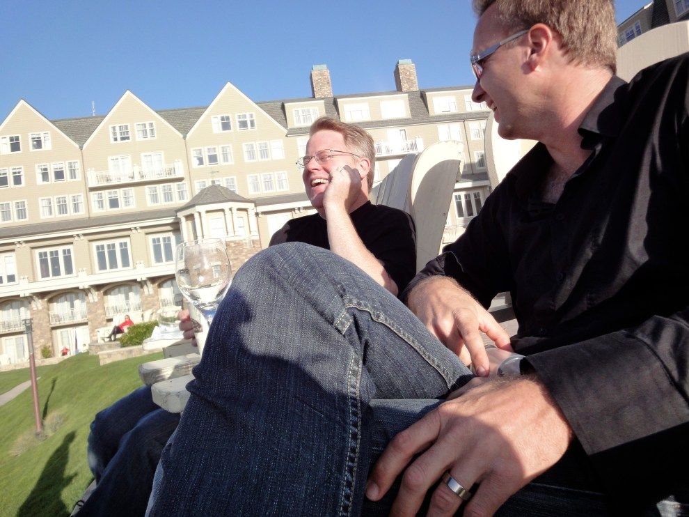 Robert Scoble (left) and Michael Reuter (right) at the Ritz-Carlton, Half Moon Bay