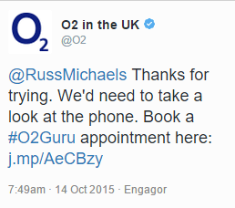 o2 tell me to book a guru