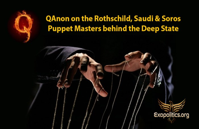 Q Anon on puppet-masters behind Deep State