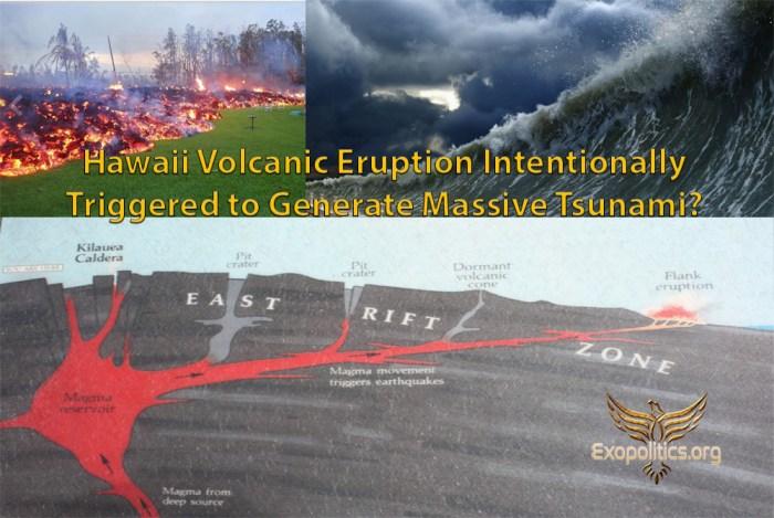 Hawaii Volcano Triggered to Cause Tsunami