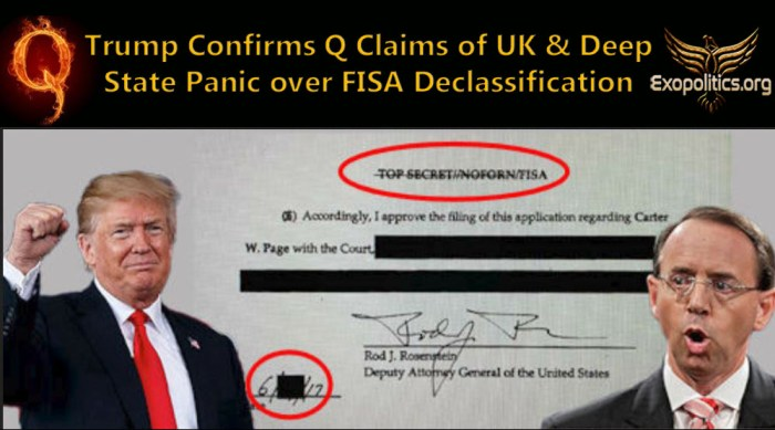 Trump Confirms Claims of Deep State Britain Panic over FISA