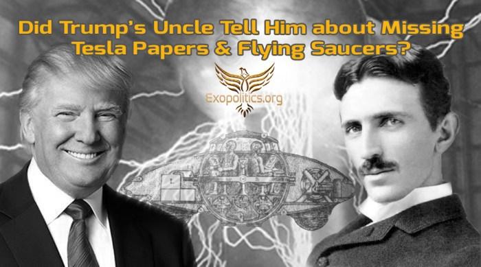 Trumps Uncle Tesla and Flying SaucersV2