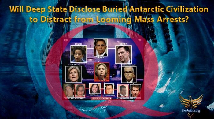 Deep State Mass Arrests Antarctica