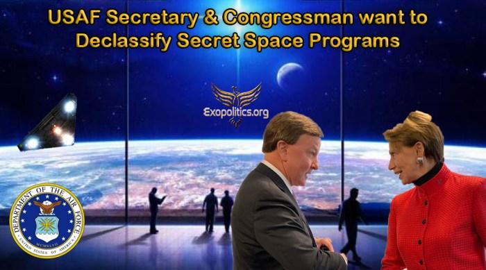 USAF Secretary wants to Declassify Secret Space Program Technologies
