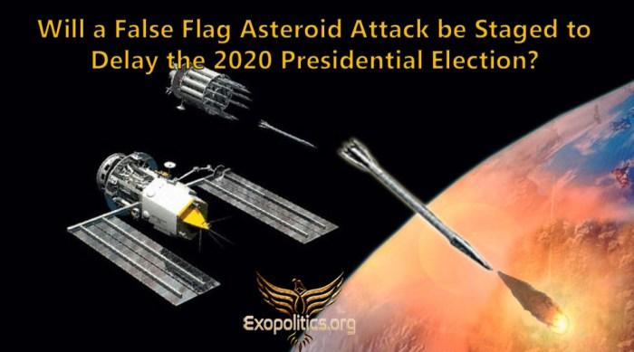 false flag asteroid attack