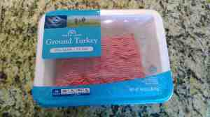Ground turkey is on sale nearly every week at Kroger. I use it to make turkey loaf and spaghetti.