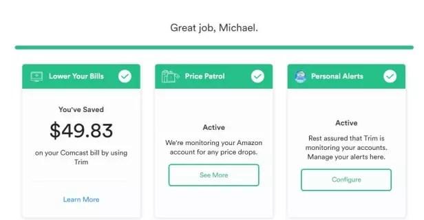 Trim helped me save $49.83 on my Xfinity by Comcast bill
