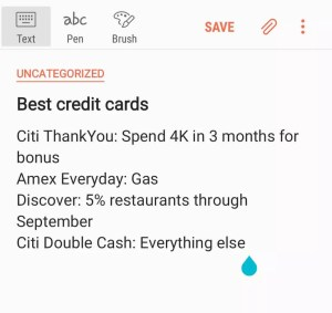 Best credit cards list