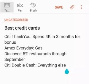 Best credit cards list