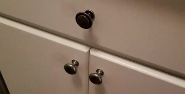 New knob top, old knobs bottom