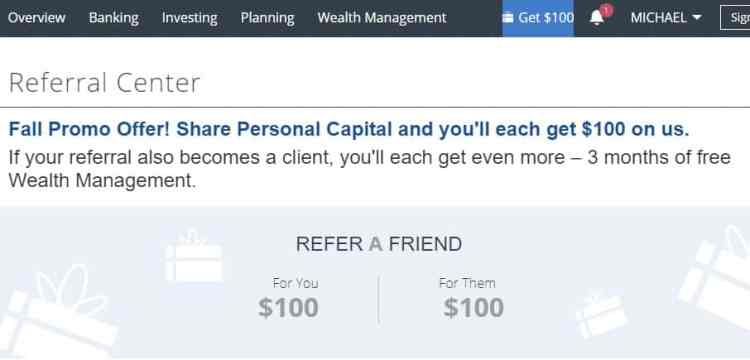 Where's my Personal Capital referral code
