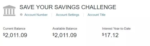 Save Your Savings Challenge results