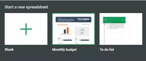 Find the Google Sheets Monthly Budget template