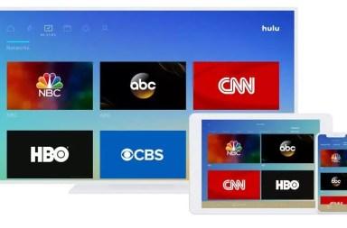 Hulu Live TV layout