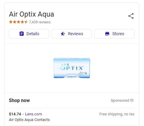 Air Optix Aqua - Lens.com Google results