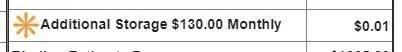 $130/month storage, not $200/month