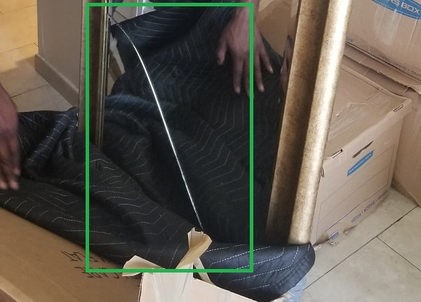 Damaged mirror