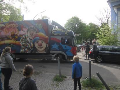 Verabschiedung des Zirkus ZappZarap