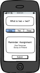 mLearning SMS wireframe