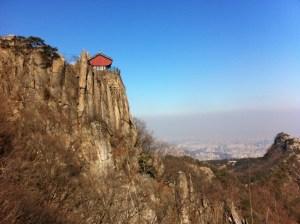 Summit (연주대) of Gwanaksan (관악산) in Seoul, Korea: January 2012