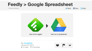 If I tag something in Feedly with this tag, then it is saved to Google Drive.