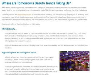 Where Are Tomorrow's Beauty & Personal Care Trends Taking Us-