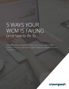 Crownpeak eBook – 5 Ways Your WCM is Failing