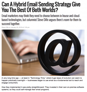 SparkPost MarketingLand Column – Hybrid Sending Success