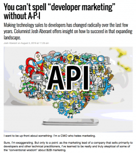 SparkPost MarketingLand column – API