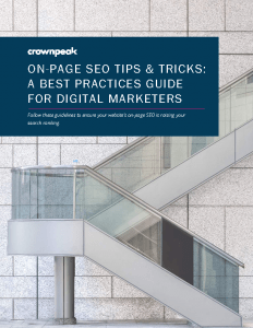 Crownpeak On-Page SEO Guilde eBook