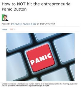 How to NOT hit the entrepreneurial Panic Button