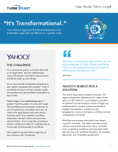 ThinkSmart YAHOO Case Study