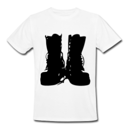 Combat Boots mens tee by Michael Shirley
