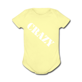 Crazy Baby baby romper by Michael Shirley