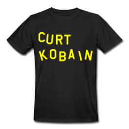 Curt Kobain mens tee by Michael Shirley
