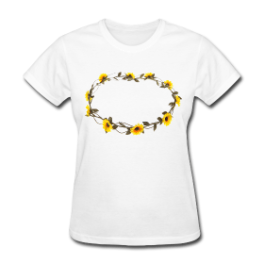 Flower Crown womens tee by Michael Shirley