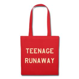Teenage Runaway tote bag by Michael Shirley