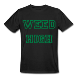Weed High School mens tee by Michael Shirley